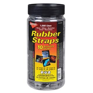 Keeper 06361-10 Jar Assortment Rubber Tarp Straps 10 Piece