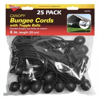 Keeper 06345 8-inch Canopy Bungee Cords With Toggle Balls|https://ak1.ostkcdn.com/images/products/11778549/P18690209.jpg?impolicy=medium