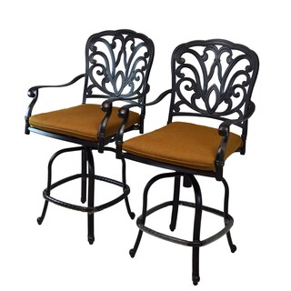 Sunbrella Aluminum Counter-height Bar Stools with Cushions (2 Pack)