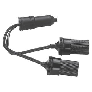 Custom Accessories 70051 12 Volt Twin Plug-In Cigarette Lighter Sockets