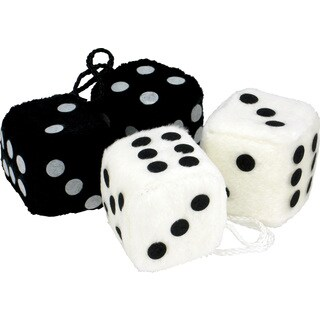 Bell 33603-8 Black Or White Fuzzy Dice