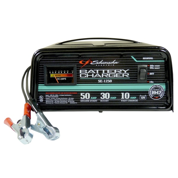 shop schumacher se-1250 10/30/50 amp charger & booster - free shipping  today - overstock - 11778688