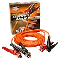 Coleman Cable 08566 16' Orange 6 Gauge Road Power Heavy-Duty Booster Cables