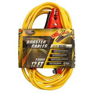 Coleman Cable 08471 12' 8 Gauge Medium-Duty Booster Cables