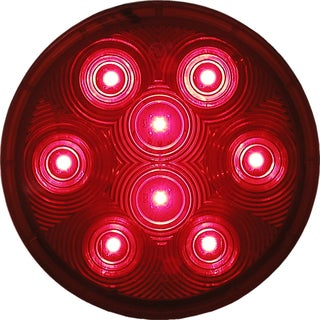 PM V826KR-7 4-inch Round Red LED Economy Stop, Turn & Tail Light Kit