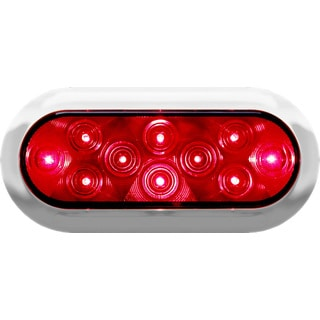 PM V423XR-4 Red LED Surface Mount Oval Stop Turn & Tail Light Kit