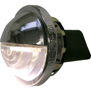PM V298C Chrome Low Draw LED License Light