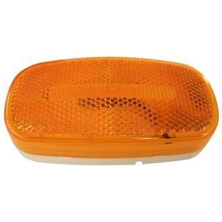 PM V180A Amber Oval LED Clearance & Side Marker Light With Reflex