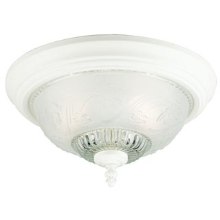 Westinghouse White Ceiling Fixture 7 in. H x 13-1/4 in. W