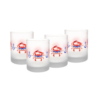Culver 14-Ounce DOF Glass Sailor Crabs Set of 4