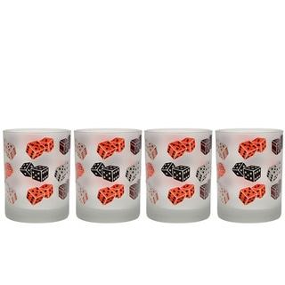 Culver 14-ounce DOF Dice Glassware (Set of 4)