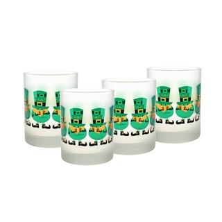 Culver 14-ounce DOF Glass Leprechaun, Set of 4