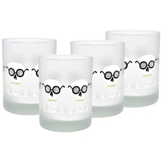 Culver Mr. Bones Set of 4 14-Ounce Double Old-fashioned Glasses