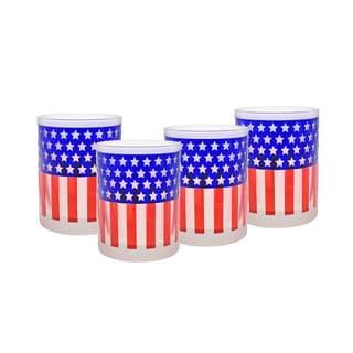 Culver 14-ounce DOF Glass Flag Set of 4