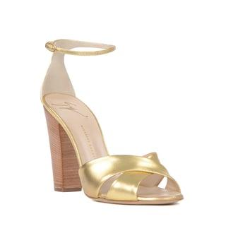 Giuseppe Zanotti Women's Gold Leather Heel Sandal