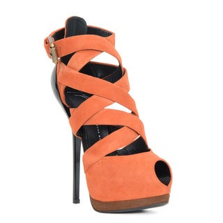 Giuseppe Zanotti Women's Orange Heel Sandal