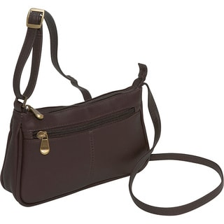 LeDonne Leather Top Zip Mini Crossbody Handbag