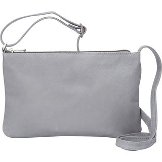 LeDonne Apricot Leather Crossbody Handbag