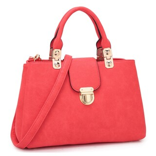 Dasein Fashion Double Pocket Satchel Handbag