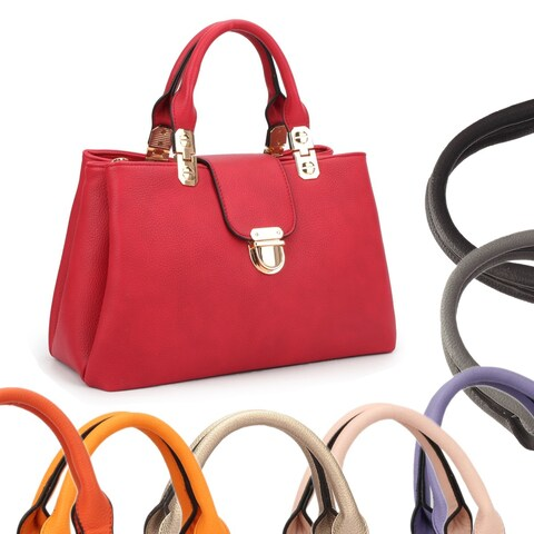 Dasein Fashion Double Pocket Satchel Handbag