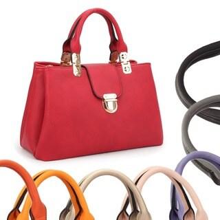 Dasein Fashion Double Pocket Satchel Handbag (More options available)
