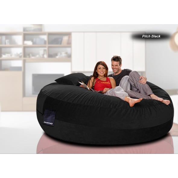 Shop Maximus Cord Red Black Chocolate Brown Denim Beanbag - Free Shipping  Today - Overstock.com - 11779805 54c2107c5485f