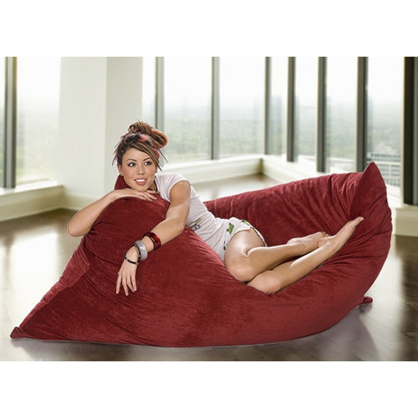 Shop Omni Plus Suede Beanbag Chair - Free Shipping Today - Overstock -  11779814 e9b3c8b2fb3d8