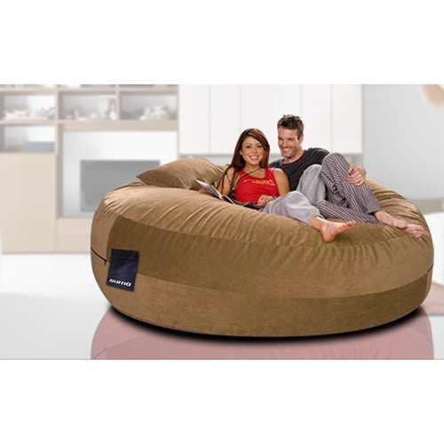 Shop Maximus Brown Microsuede Beanbag Seat - Free Shipping Today - Overstock  - 11779821 c6d981a6395b4