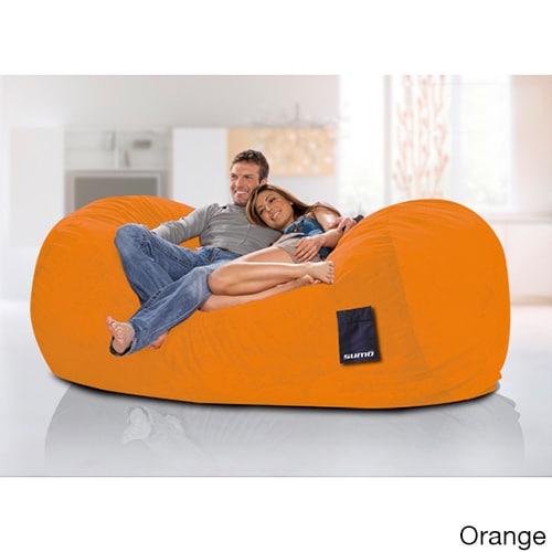 Sumo Titanium Oversized Beanbag Chair (Orange), Size Extr...