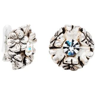 Dabby Reid Florette Diamond Crystal Limited Edition Handmade in New York Circa 1988 Antique Clip Earring|https://ak1.ostkcdn.com/images/products/11779836/P18691175.jpg?_ostk_perf_=percv&impolicy=medium