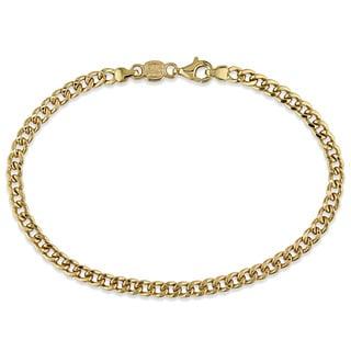 Miadora 18k Yellow Gold Italian Curb Link Bracelet