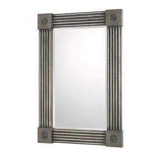 Capital Lighting Traditional Distressed Silver Decorative Wall Mirror