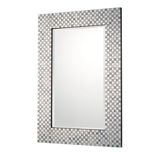 Capital Lighting Urban Embossed Metallic Decorative Wall Mirror