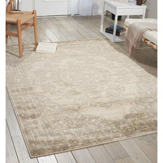 Porch & Den Greenpoint Lorimer Off-white Bone Distressed Oriental Area Rug (7'10 x 10')