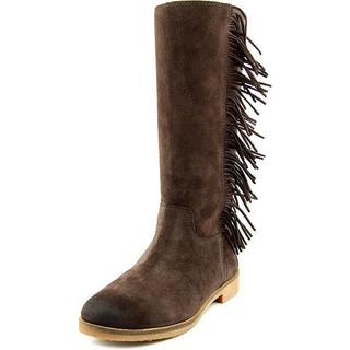 Women's Lucky Brand Grayer Fringe Boot Java Suede Leather