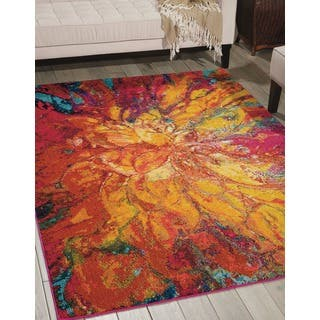 Skye Monet Flame Rug 7 7 X 10 5 Free Shipping Today