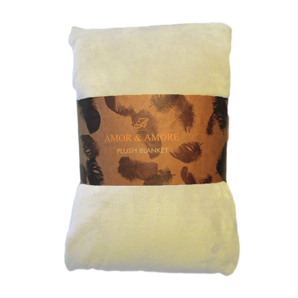Amor&Amore Super Soft Warm Microplush Flannel Blanket