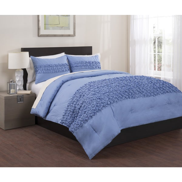 Origami Pleated 3-piece Duvet Set