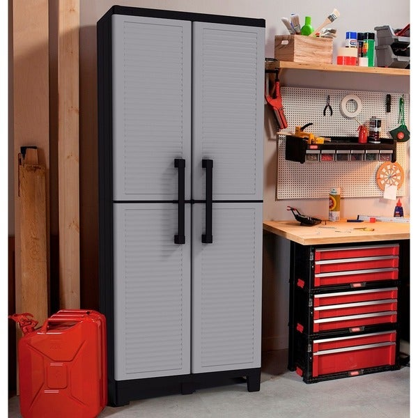 Charmant Keter Space Winner Plastic Utility Storage Cabinet With Adjustable Shelves