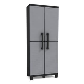 Space Winner Plastic Utility Storage Cabinet with Adjustable Shelves