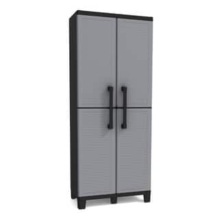 Keter Plastic Utility Storage Cabinet with Adjustable Shelves|https://ak1.ostkcdn.com/images/products/11780639/P18691874.jpg?impolicy=medium
