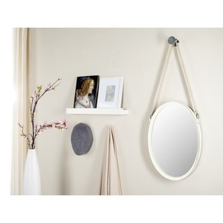 Safavieh Raleigh Strap Ivory 16 x 40-inch Oval Mirror
