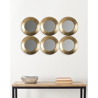 Safavieh Marcus Gold Disc 23.5 x 35-inch Mirror