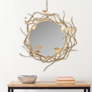 """Safavieh Gold Wreath Antique Gold 39-inch Decorative Mirror - 34.5"""" x 38.5"""" x 3"""""""