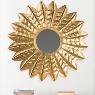 Safavieh Deco Leaf Antique Gold 36-inch Sunburst Mirror