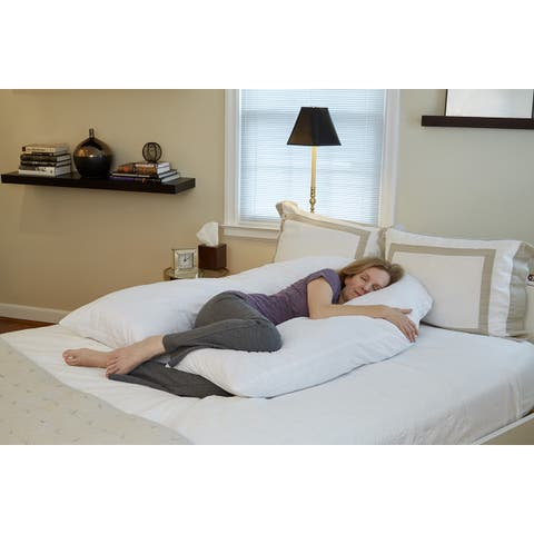 51'' Total Body U-Shaped Pillow - White