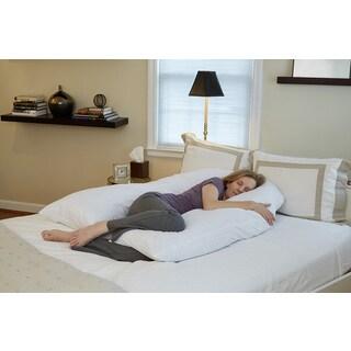 51'' Total Body U-Shaped Pillow - White
