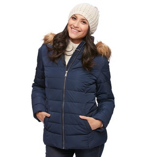 Women'S Coat With Fur Hood