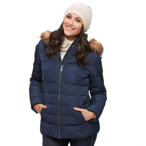 Shop Tommy Hilfiger Women s Hooded Puffer Jacket - Free Shipping On ... 0132359699