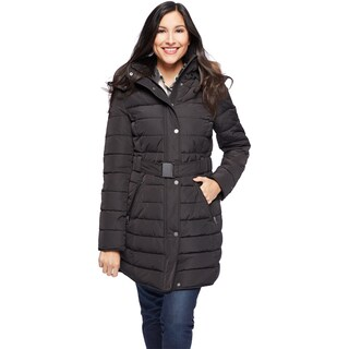 Tommy Hilfiger Women's Faux Fur Trim Hood Puffer Jacket